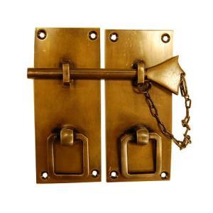 ブラス錠前163 真鍮金具 インドネシア直輸入 インテリアパーツ 古色仕上げ DIY 扉金具 キャビネット金具|artcrew