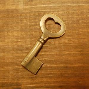ブラス鍵167A 真鍮金具・・・インドネシア直輸入・インテリアパーツ・古色仕上げ|artcrew