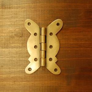 ブラス蝶番170 ヒンジ 真鍮・・・インドネシア直輸入・インテリアパーツ・古色仕上げ|artcrew