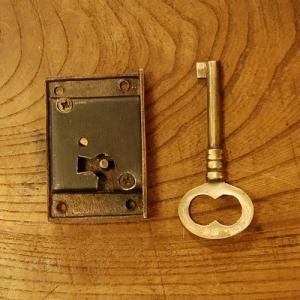 ブラス鍵セット363 真鍮金具 インドネシア直輸入 インテリアパーツ 古色仕上げ DIY 扉金具 引き出し鍵部品 artcrew
