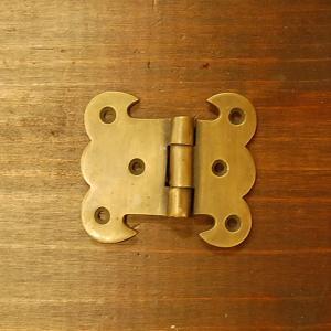 ブラス蝶番408 ヒンジ 真鍮・・・インドネシア直輸入・インテリアパーツ・古色仕上げ|artcrew