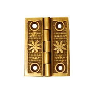 ブラス蝶番448 ヒンジ 真鍮・・・インドネシア直輸入・インテリアパーツ・古色仕上げ|artcrew