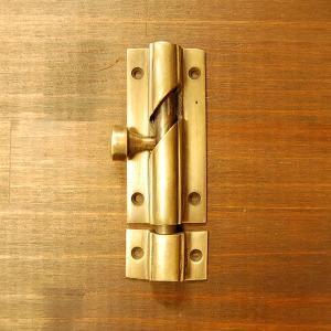 ブラス錠前449 真鍮金具・フランス落とし・・・インドネシア直輸入・インテリアパーツ・古色仕上げ|artcrew