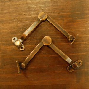 ブラスヒンジ480 蝶番 真鍮・・・インドネシア直輸入・インテリアパーツ・古色仕上げ|artcrew