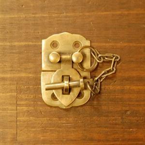 ブラス錠前545 真鍮金具・・・インドネシア直輸入・インテリアパーツ・古色仕上げ artcrew