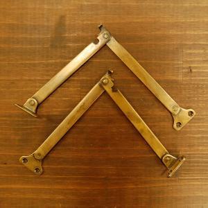 ブラスヒンジ558 蝶番 真鍮・・・インドネシア直輸入・インテリアパーツ・古色仕上げ|artcrew