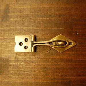 ブラス錠前572 真鍮金具・・・インドネシア直輸入・インテリアパーツ・古色仕上げ|artcrew