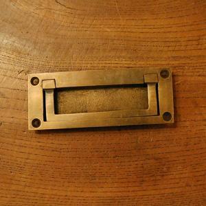 真鍮把手 掘り込み型・引戸用598・・インドネシア直輸入・インテリアパーツ・古色仕上げ 手作り 家具用 DIY 部品|artcrew