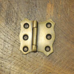 ブラス蝶番 ヒンジ 真鍮 インドネシア直輸入 インテリアパーツ 古色仕上げ DIY 修理 取り替え 部品|artcrew