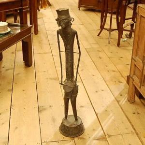 India Brass Art DHOKRA インド真鍮アート ドクラ アンティーク ヴィンテージ 置物 人形 インテリア アジアン|artcrew