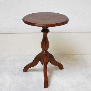 サイドテーブル USED ラウンドテーブル 丸テーブル シンプルラウンドテーブルS カフェテーブル 壺台 花台 チーク材 無垢材家具 インドネシア直輸入|artcrew