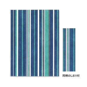 ファイバー フリーサイズ ブックカバー ストライプ ブルー /m/|artemis-webshop-2