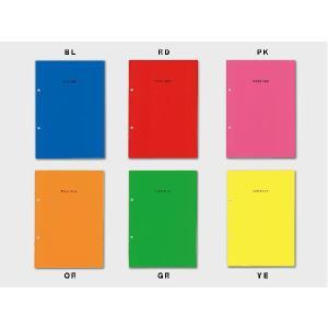 ノートブック A5 A5-2穴 ルールドノート ネオン(40ページ/6mm罫線)  /m/|artemis-webshop-2