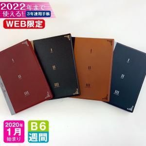 手帳 WEB限定 2020 年 1月始まり B6 3年連用ダイアリー 3B6-ブック m アーティミ...
