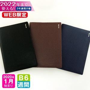 手帳 WEB限定 2020 年 1月始まり B6 3年連用ダイアリー 3B6-リザード m アーティ...