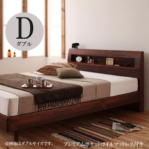 すのこベッド スノコベッド ダブル ダブルベッド ベッド ダブル ベッド プレミアムポケットコイルマットレス付き ダブル 格安 安い おしゃれ おすすめ 人気|artevida-shop