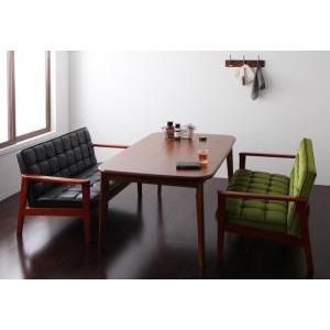 ソファー ダイニングテーブルセット ダイニング 3点セット Cタイプ(テーブルW160cm+2Pソファ×2) 格安 安い おしゃれ おすすめ 人気|artevida-shop