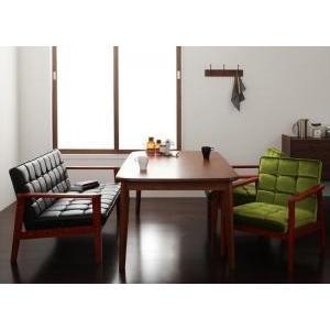 ソファー ダイニングテーブルセット ダイニング 4点セット Dタイプ(テーブルW160cm+2Pソファ+1Pソファ×2) 格安 安い おしゃれ おすすめ 人気|artevida-shop