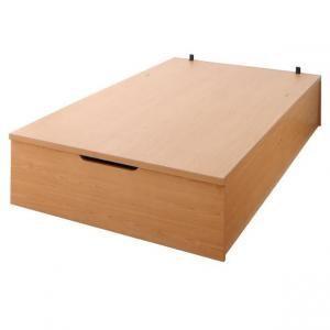 収納付きベッド ヘッドレスベッド ベッドフレームのみ 縦開き セミダブル グランド|artevida-shop