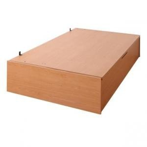 収納付きベッド ヘッドレスベッド ベッドフレームのみ 横開き セミシングル ラージ|artevida-shop