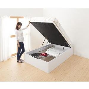 すのこベッド ベッド すのこ 通気性抜群 清潔 快適 生活 薄型スタンダードポケットコイルマットレス付き 縦開き セミダブル ラージ artevida-shop
