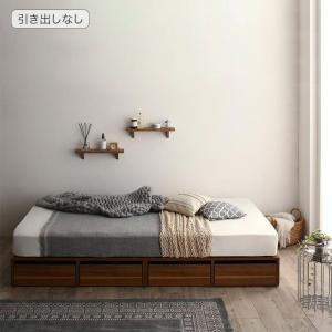シングルベッド 引出収納付きシンプルデザインローベッド スタンダードボンネルコイルマットレス付き 引き出しなし シングルの写真