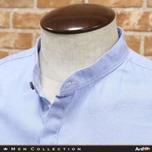 春夏/Koon/イタリア製プルオーバーシャツ 綿100%織り柄 比翼 バンドカラー ラフ ヌケ感 長袖 大人カジュアル きれいめ 紳士 メンズ クーン|artfish
