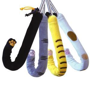 ビニール傘も可愛く変身!  自分の傘と一目でわかる猫の手カバー  傘の柄にかぶせるだけ!簡単装着! ...