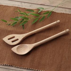 木製キッチンスプーン&ターナーセット ボヌール    キッチン、日用品 台所用品  調理器具  キッ...