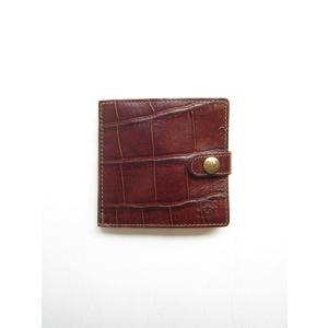 【IL BISONTE イルビゾンテ】クロコ型押しBOXコイン式財布[bw]/5402305840*WA【納期表示カラーはご予約】#IB