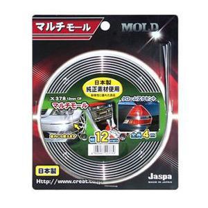 メール便可 メッキモール マルチモール クローム 4m巻 幅12mm 日本製 車 Jaspa クリエイト X378|articlestore