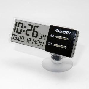 槌屋ヤック YAC 自動車用シースルークロック 時計 透過液晶採用 吸盤取付タイプ PZ-372 articlestore