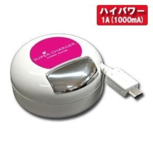 カシムラ AC充電器リール1A microUSB MG スマートフォン用 リールタイプ 100V〜240V対応 海外使用可能 マゼンタ AJ-485|articlestore