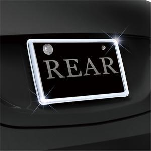セイワ リアナンバーフレーム クロームメッキ リア取付専用 新方式スライド取付 ドレスアップに最適 K-416|articlestore