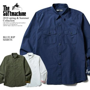 SOFTMACHINE ソフトマシーン BLUE RIP SHIRTS  MATERIAL :COT...