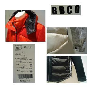 BBCO<ビビコ>秋冬/21新/10%OFF/フード ダウンブルゾン/46・48・50 サイズ/ホワイト・ブラック・レッド/ニット切り替え/フード取り外し/barassiデザイン|artigiano-uomo|06