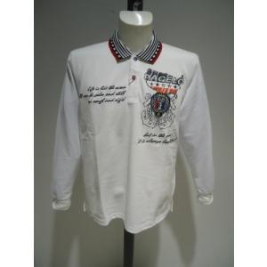 PAGELO/春夏/50%OFF/長袖 ポロシャツ/3L サイズ(オリジナル)ホワイト/大きいサイズ/現品限り artigiano-uomo