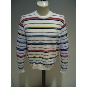 VAGIIE メンズ/春夏/30%OFF/サマー セーター/52(3L)別注サイズ/ホワイト/大きいサイズ/日本製/ストレッチ生地/1点限り|artigiano-uomo