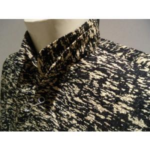 BONTON /秋冬/20新作/20%OFF/Wデザインカラー シャツ/M・L・LLサイズ/ブラック/日本製/大きいサイズ/ポリエステル生地/人気モデル|artigiano-uomo