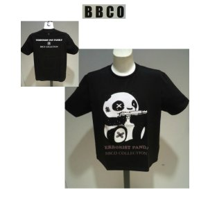 BBCO<ビビコ>春夏/21新/ストレッチ Tシャツ/46・48・50 サイズ/ブラック/ラインストーン/パンダモチーフ/ハイゲージコットン/人気商品|artigiano-uomo