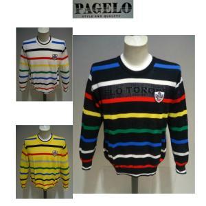 PAGELO<パジェロ>春夏/21新/50%OFF/デザイン セーター /3L サイズ(オリジナル)白・黒・イエロー /日本製/大きいサイズ/サマーセーター/現品限り|artigiano-uomo