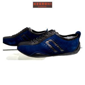 negroni <IDEA-CORSA>カーボン&スエード・ドライビングシューズ/インクブルー/24.0cm〜27.0cm/日本製/3Eサイズ/Order Model|artigiano-uomo