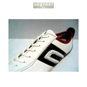 negroni(ネグローニ)IDEA  / ドライビングシューズ(牛革)ホワイト&ブルー・レッド/24.0cm〜27.0cm各/日本製/3Eサイズ|artigiano-uomo