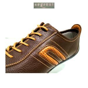 negroni<ネグローニ>IDEA/ドライビングシューズ(牛革)Dブラウン×Rブラウン/24.0cm〜27.0cm各/日本製/3Eサイズ/定番モデル|artigiano-uomo