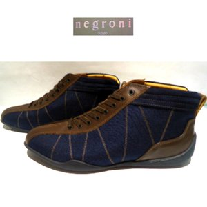 negroni <G.P.HI>ハイカット&ドライビングシューズ/ネイビー/24.0〜27.0cm/日本製/3Eサイズ/GRAND.PRIX.HI-TOP/2020ニューモデル|artigiano-uomo
