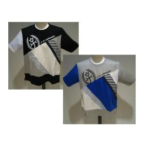 CASTEL BAJAC メンズ/春夏/20新作/30%OFF/デザイン 半袖Tシャツ/50・48 サイズ/ブラック・グレー/日本製/大きいサイズ/綿100%/切り替えしデザイン artigiano-uomo
