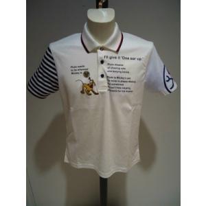 CASTEL BAJAC /春夏/30%OFF/デズニーDS 半袖 ポロシャツ/50(2L)・48(L)・46(M) サイズ/ホワイト/日本製/現品限り artigiano-uomo