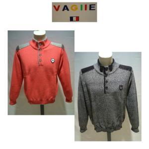VAGIIE /秋冬/40%OFF/ヘンリー セーター/50・48・46 サイズ/ピンク・グレー/日本製/大きいサイズ/ハイネック/現品限り|artigiano-uomo