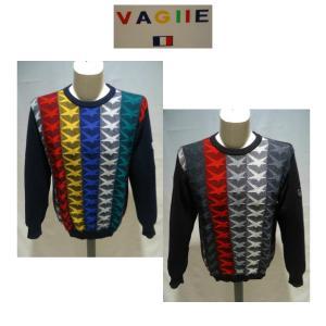 VAGIIE /秋冬/35%OFF/デザイン セーター/50・48・46 サイズ/紺系・黒系/ 日本製 /大きいサイズ/人気モデル/現品限り|artigiano-uomo