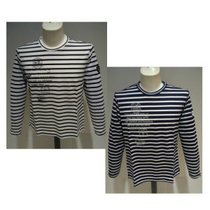 VAGIIE メンズ/春夏/40%OFF/20 新作/ボーダー 長袖Tシャツ/ 50・48・46 サイズ/ホワイト・ネイビー/日本製 /大きいサイズ/綿100%/現品処分|artigiano-uomo